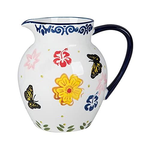 diseño pintado a mano porcelana cerámica cerámica agua agua hervidor de cerámica cerámica artesanía vino sake olla-azul