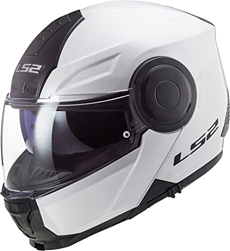 LS2, casco modulare de moto, Scope bianca, M