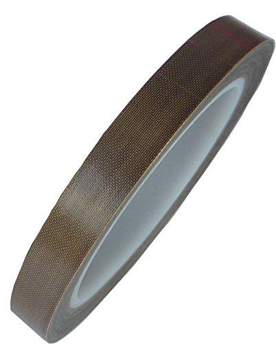 HOEREV Teflon,PTFE-Glasklebeband, Klebstoff Silikon,Dicke 0.13mm, Länge 30m