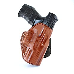 MASC HOLSTER OWB LEATHER PADDLE HOLSTER