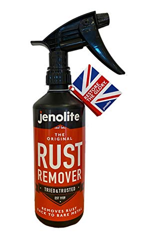 JENOLITE Antiruggine Griletto Spray - Rimuovere La Ruggine dal Metallo - Togliruggine Acido - Mangia ruggine - 500g