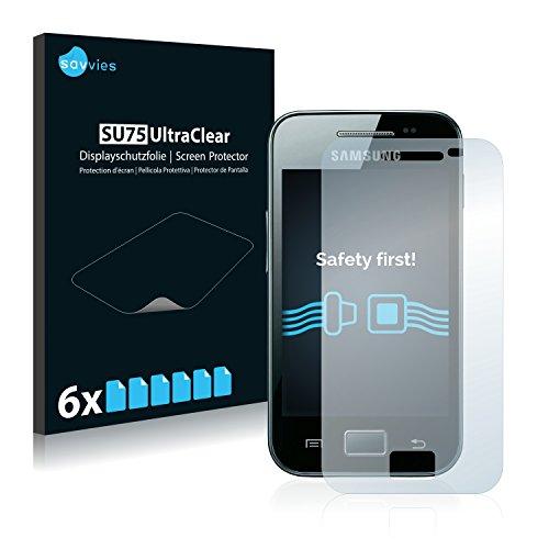 savvies 6-Pezzi Pellicola Protettiva Compatibile con Samsung Galaxy Ace S5830i Protezione Schermo Trasparente
