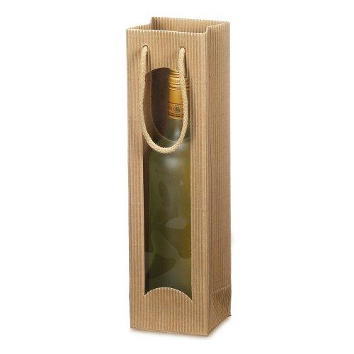 10 x Weintragetasche, Weinverpackung, Flaschentasche (1 Flasche) - Focus natur