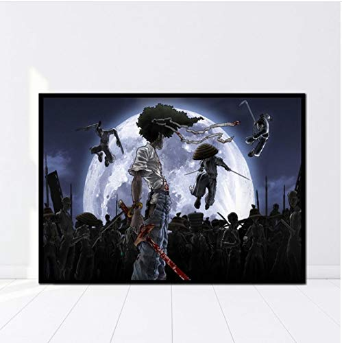 NVRENHUA Japanese Anime Afro Samurai Poster HD Cloth Prints Wall Art 40 * 60Cm Sin Marco