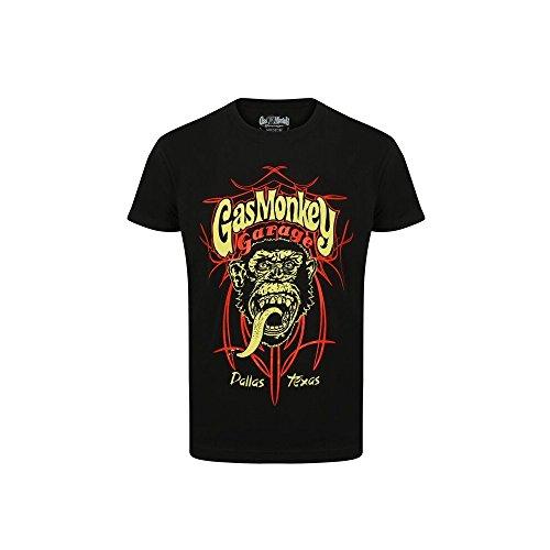 Gas Monkey Garage T-Shirt Pinstripe 2, Color:black;Größe:S