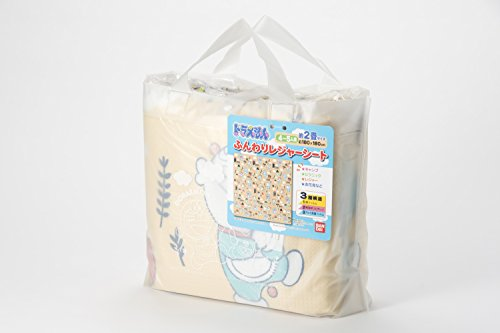 アサヒ興洋ドラえもんふんわりレジャーシート4~5人用180×180cm(約2畳)手提バッグ付き