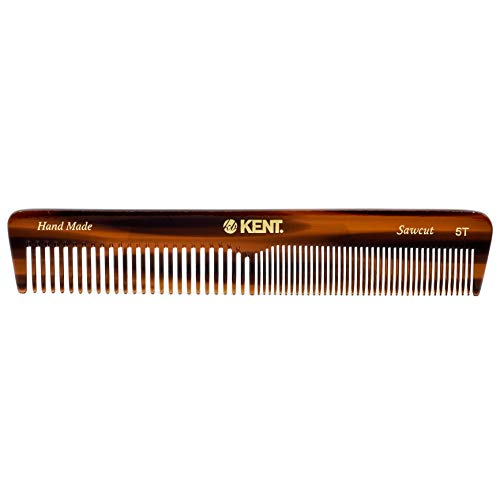 Kent 5T Fine Tooth Comb and Wide Tooth Comb Straightener Comb/Beard Comb and Hair Comb/Mens Hair Comb and Mustache Comb and Comb for Women/Hair Styling and Detangling Comb