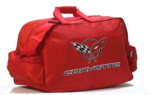 Corvette Logo Sporttasche Leichte Seesack Reisegepaeck Duffel Wochenende Uebernachtung Taschen fuer Reisen Sport Gym Urlaub