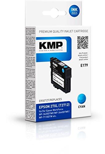 KMP E179 - Cartucce d'inchiostro (Ciano, Epson, Workforce WF-3620 DWF Workforce WF-3640 DTWF Workforce WF-7110 DTW Workforce WF-7610 DWF, Inkjet, Box)