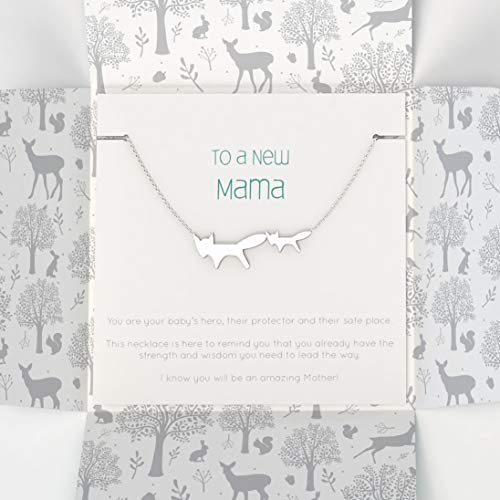 New Mama Silver Necklace in Gift Packaging | Inspirational Words | New Mum Gifts | Keepsake for Mum to Be | Baby Shower Gifts for Mum | Designed in The UK