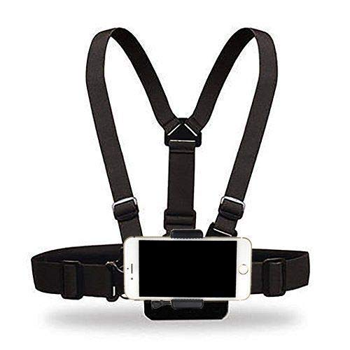 Supkeyer Cellphone Selfie Chest Mount Chest Harness Strap with Cell Phone Clip for iPhone Xs XR Max X 8 7 6 + Samsung Galaxy Note LG Sony