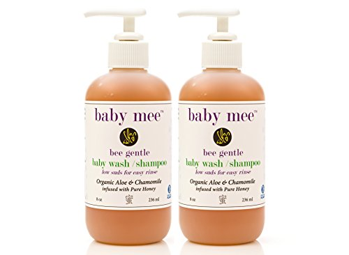 Baby Wash Kids Shampoo - Organic Aloe, Chamomile & Natural Honey for Soothing Eczema, Cradle Cap, and Dry, Itchy, Sensitive Skin & Scalp - Tear Free - for Babies, Toddlers & Big Kids (2-pack/16 oz.)