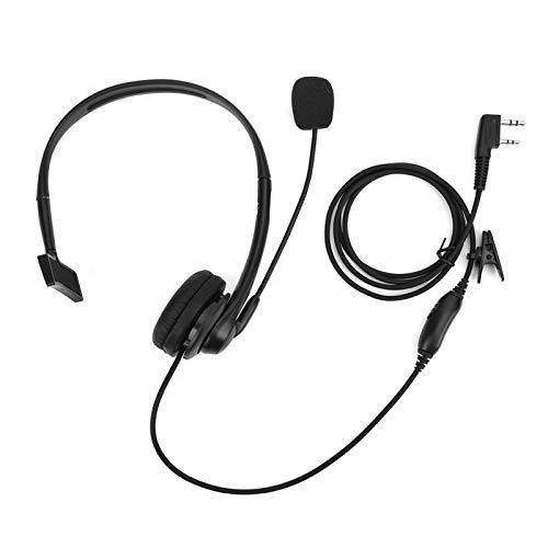 Yivibe Kopfhörer, Walkie Talkie-Hörmuschel, PPT-Überwachungsmikrofon 2Pin UV-5R BF-888S Funkgerät für Nachtclubs Paintball