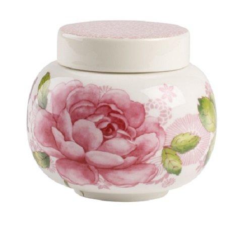 Villeroy & Boch Rose Cottage Sucrier, 360 ml, Hauteur: 85 cm, Porcelaine Premium, Blanc/Multicolore