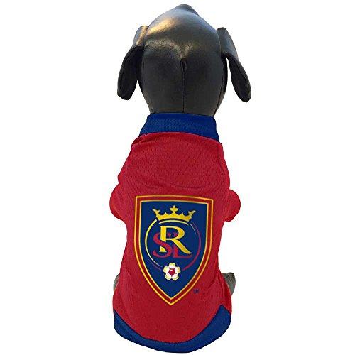 MLS Real Salt Lake Athletic Mesh Dog Jersey, Medium, Red