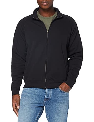 Fruit of the Loom Herren Zip Front Classic Sweatshirt, Schwarz, M