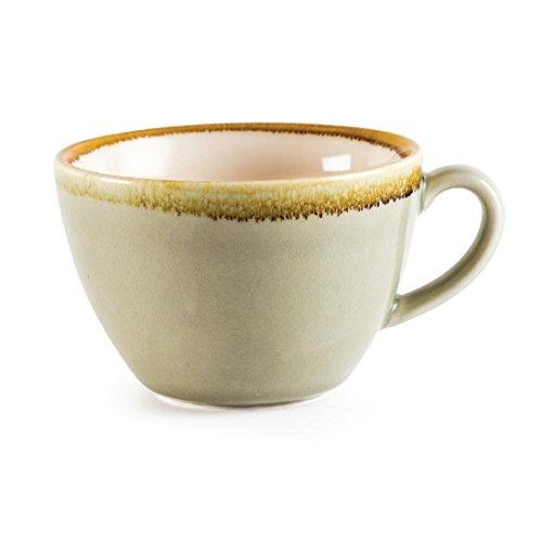 Vivera d'Olympia Gp480 Moss Tasse à cappuccino, Porcelaine, contenance de 340 ml, Vert (lot de 6)