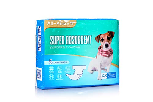 All-Absorb Disposable Dog Female Diapers, X-Small