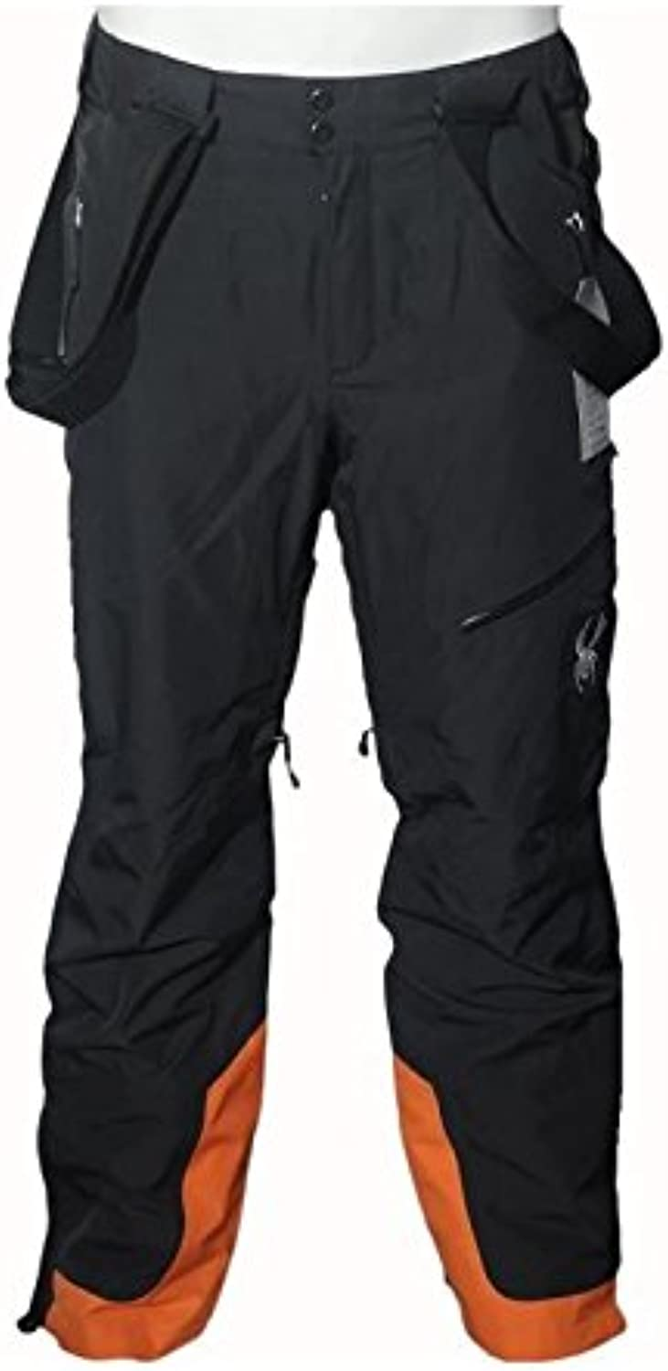 Spyder Herren Skihose Schwarz Orange Propulsion