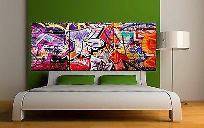 Adhesivo de cabecero de cama Decoración Pared Tag Graffiti Réf 3632(5Dimensions), 120 x 46 cm