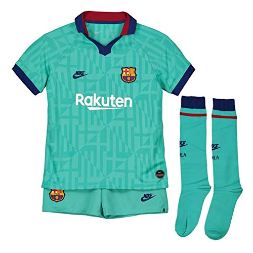 Nike 2019/20 Third Equipment 3a FC Barcelona 19-20, Unisex Kinder S cabana/deep royal blue