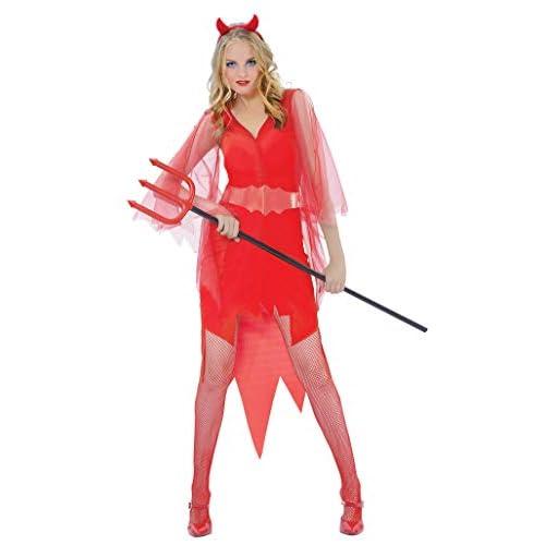 Ciao-Costume Diavolessa, taglia unica adulto Donna, Rosso, 62070