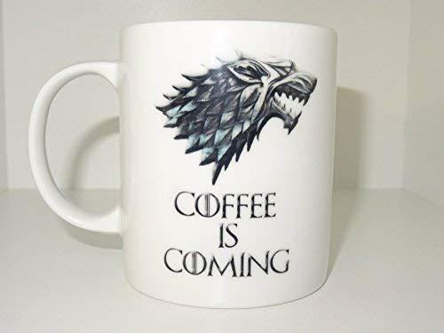Eastlif Taza de café Viene, Juego de Tronos, Taza de café Taza Divertida Té Regalo de cumpleaños para él Adicto a la cafeína único Lindo