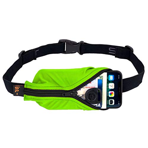 SPIbelt Running Belt Original Pocket, No-Bounce Waist Bag for Runners, Athletes Men and Women, fits Smartphones iPhone 6 7 8 X, Workout Fanny Pack, Expandable Sport Pouch, Adjustable Lime