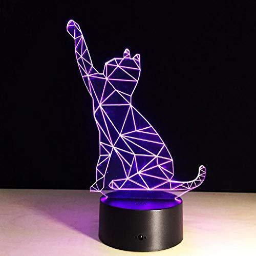 Decoración animal de dibujos animados llevó la buena fortuna de la lámpara del gato para la decoración del escritorio de la oficina con el efecto cambiante del color RGB