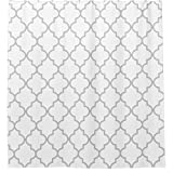 Erti567an Eleganter grau-weißer marokkanischer Vierpass-Muster, Duschvorhang, wasserdichter Stoff, Badezimmervorhänge, Heim-Badedekoration, Vinyl, Nummer 1, 130x180cm