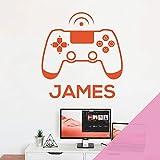 Adhesivo decorativo para pared, diseño de Game Console, para mando de juego, color rosa