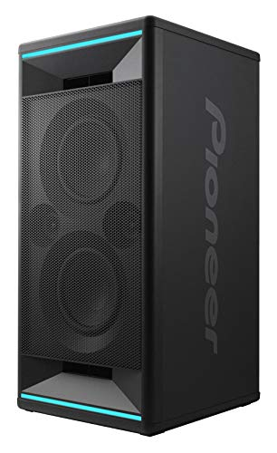 Pioneer Club 7 Altavoz de Bluetooth (LED Iluminación, Voice Control, USB para reproducción de MP3, iPhone iOS y Android, App, 2X 100 Watt RMS) Negro