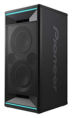 Pioneer Club 7 Bluetooth Party Speaker (Soundbox with LED light effects, Voice Control, USB for MP3 playback, for iPhone iOS and Android, App, 2 x 100 Watt RMS) black from Pioneer