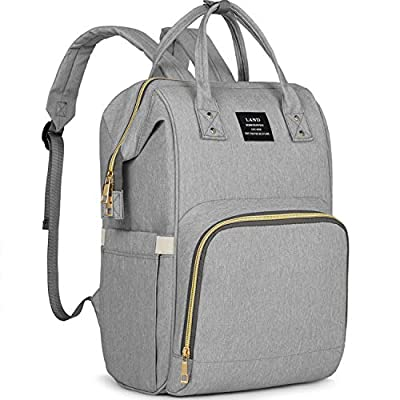 Diaper Bag Backpack Multifunctional Maternity Baby Bags for Mom by Jewelvwatchro Grey