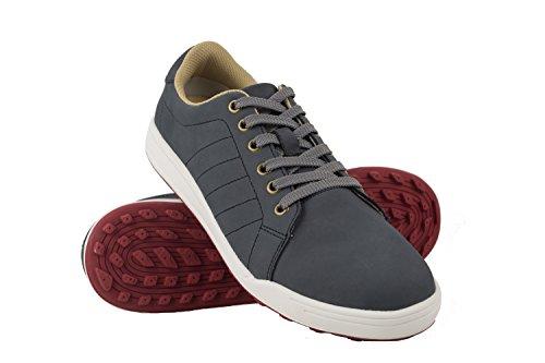 Zerimar Zapatos de Golf Hombre | Zapatos Hombre Deportivos | Zapatos Hombre Golf | Zapatillas Deporte Hombres | Zapatillas de Golf Hombre | Zapato Golf Piel | Color Azul Marino Talla 44