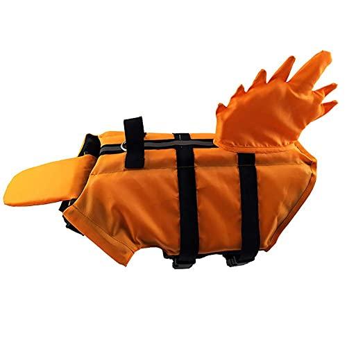 LXTIN Chalecos Salvavidas para Perros Chaleco de flotación para Mascotas Shark Saver Life Swimming Puppy Traje de baño Abrigo Ajustable para Perros con Asas para un fácil Rescate