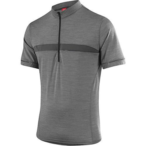 LÖFFLER M Bike Shirt Merino HZ Grau, Herren Merino Kurzarm-Shirt, Größe 54 - Farbe Grey Melange