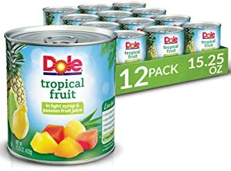 12-Pack Dole Mixed Tropical Fruit in Light Syrup and Passion Fruit Juice
