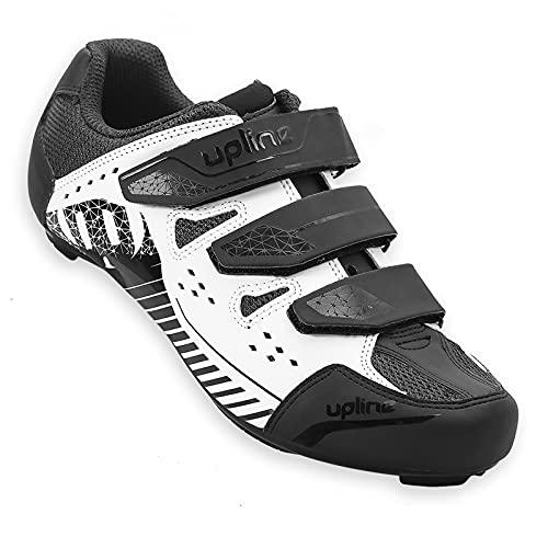 Hiland Road Bike Cycling Shoes Lock Pedal Bike Shoes Cleated Bicycle Ciclismo Shoes Compatible with SPD Cleats