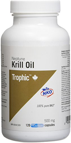 Trophic Aceite de krill Neptuno 500 mg 120 cápsulas 120 g