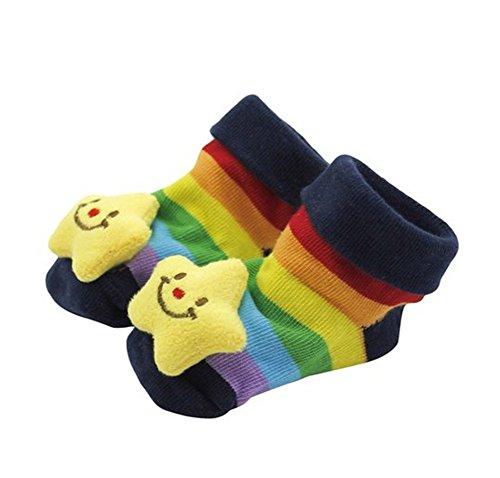 Gespout Calcetines Bebés Algodón Calcetines Térmicos Párrafo Corto para Mujer Bebé Chica Otoño Cómodo Infancia Antideslizantes Cálido Invierno para Socks Precioso Regalo de Madre Amor Panda 1par