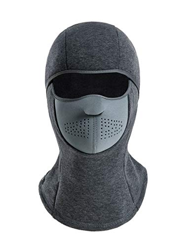 KSKG Balaclava Mask Winter Windproof Fleece Thermal Full Face Ski and Neck Warmer for Motorcycle Cycling Gray