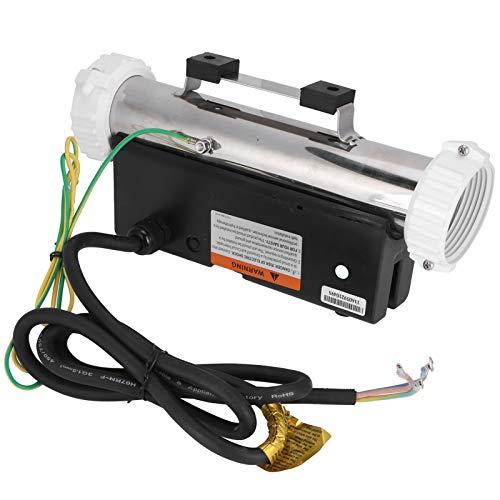 RBSD Calentador de Agua para Piscina, sin Tanque, Impermeable, 3KW, Conveniente y excelente termostato para SPA, Acero Inoxidable eléctrico para el hogar del SPA