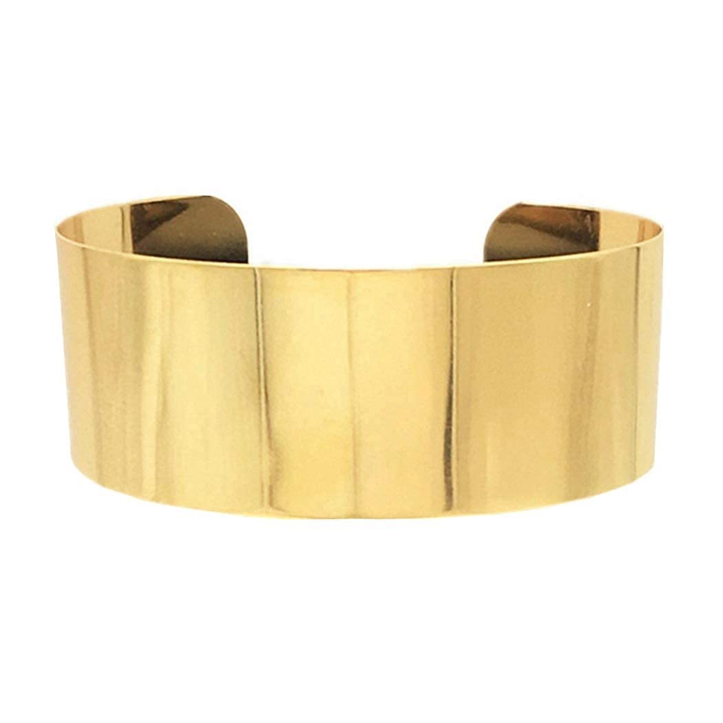 Fstrend Statement Chunky Choker Gold Plated African Necklace Costume Party Jewelry Accessories for Women and Girls (Gold)