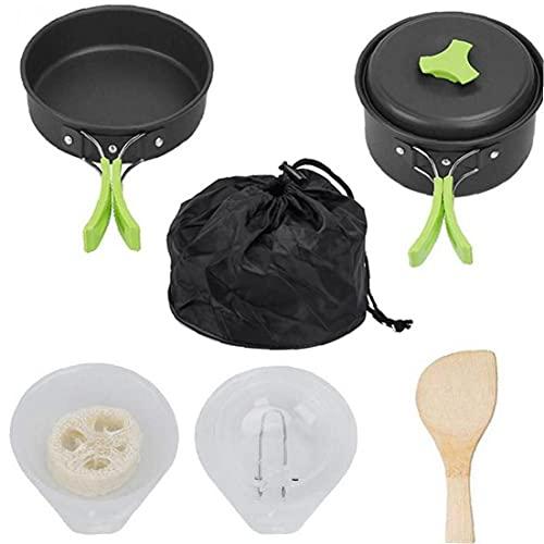 Camping Cafillos De Cocina De Cocina Mejo Kit Signización del Anterior Equipo De Cocina Coople De Coople De Cooplo Puedo Pote Pote Pota Pantel