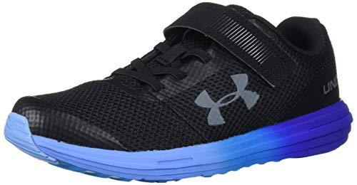 Under Armour Unisex-Youth Pre School Surge RN Alternate Closure Sneaker, Black (005)/Royal, 11K