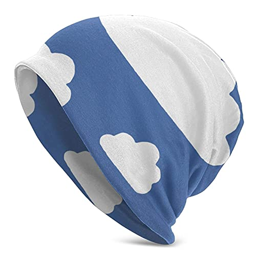Beanie Hat Nubes Blancas Azul Hombres Mujeres Sombreros...