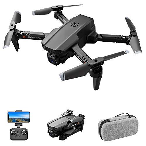 Entweg Drone RC, LS-Xt6 Drone RC con Videocamera 4K Drone Doppia Videocamera Traccia Volo Sensore di gravità Gesto Foto Video Altitudine Tenere modalità Senza Testa Adulto Quadricottero RC Bambino