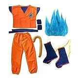 FINDPITAYA Déguisement Dragon Ball Z Combinaison 6pcs Halloween Noel Son Goku Enfant...