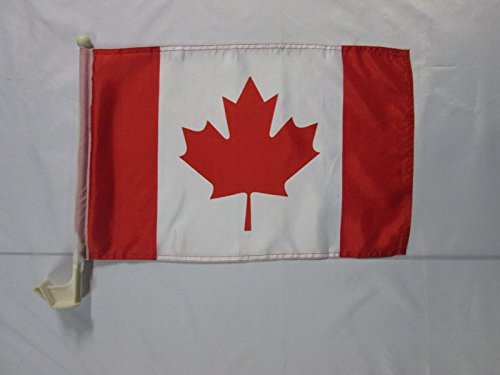 AZ FLAG AUTOFAHNE Kanada 45x30cm - KANADISCHE AUTOFLAGGE 30 x 45 cm Auto flaggen